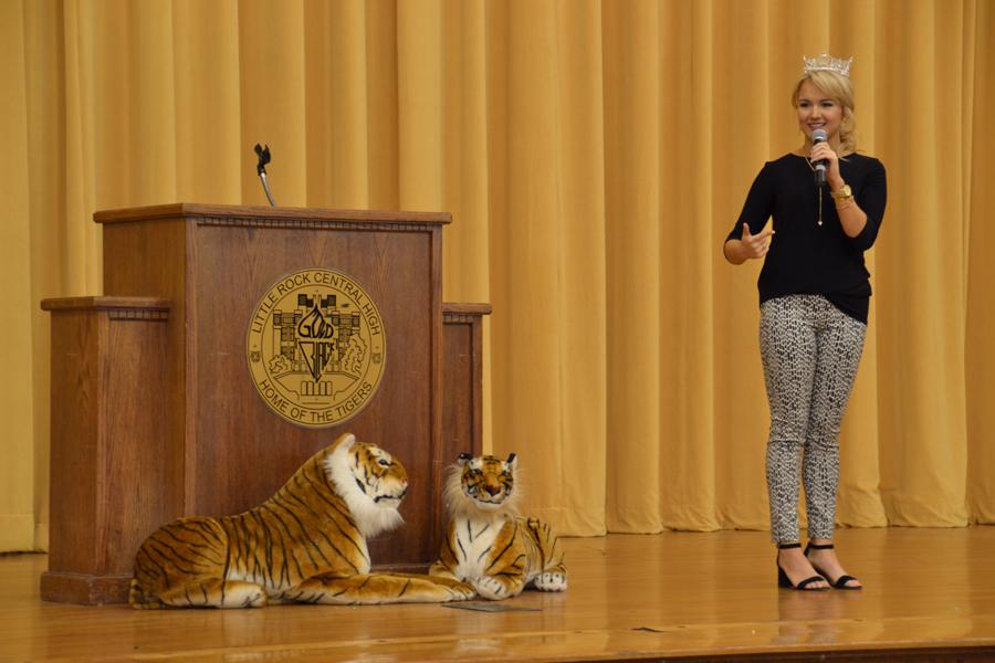 Miss America 2017, Savvy Shields, stops at Central on Wednesday, Feb. 15, to talk to seniors about making their 'mark' and what it means to be in the spotlight for a year.