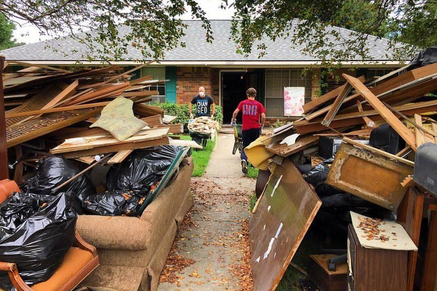The floods damaged the home of Matthew Brichetto, a friend of math teacher Melissa Riley. Here can be seen the destruction caused by the disaster and the process of cleaning up the rubble at his home in Louisiana.