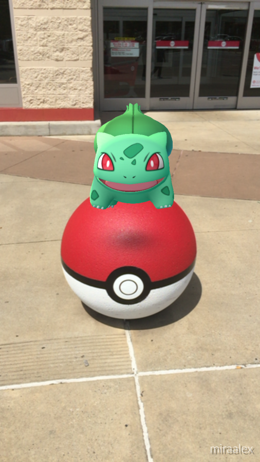 A wild Balbasaur is spotted at the Target on Chenal Parkway.