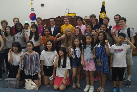 Touring Hanam city hall with home stays.