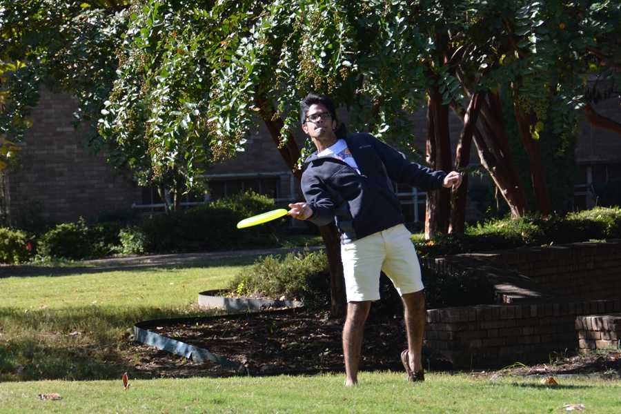 Senior Mohamed Mumtaz has been playing ultimate for several years, and is looking forward to participating in tournaments this fall.