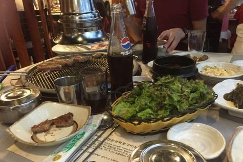 There was plenty of good food in South Korea; the Korean barbecue was a hit.