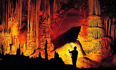 The cavern features an abundance of natural beauty, including stalactites hanging dozens of feet above visitors' heads.