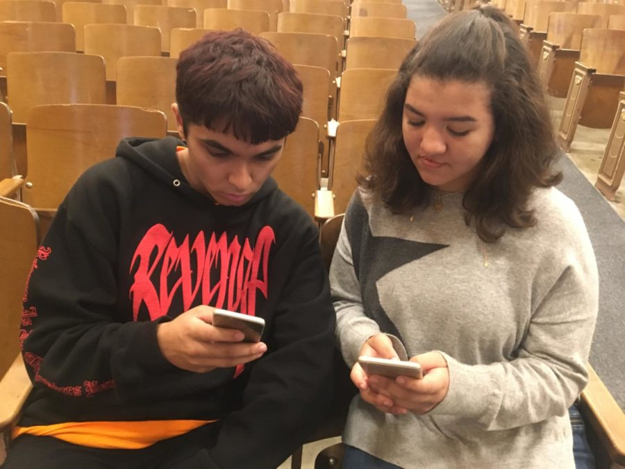 Vice President of M.S.A., junior Salma Abdulrahman and secretary, junior Muhsin Sheikh post pictures of Syrian Refugees on their Instagrams to raise awareness of the crisis and promote the acceptance of them in the United States. (photo by Aashna Farishta)