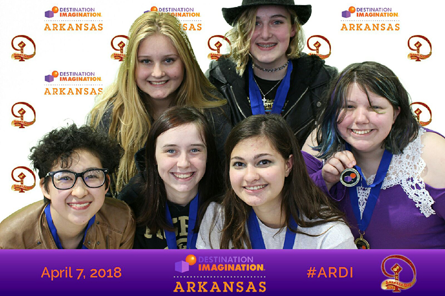 Both Destination Imagination teams won first place at the state tournament held at Bryant High School. They are moving on to the Global Competition May 23-26 in Knoxville, Tennessee.