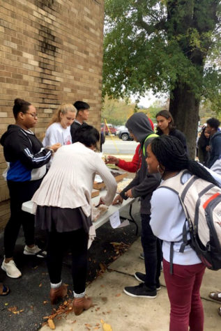 BETA club members sell snacks after school to help fund the club for this year. (photo by Jane Ellen Dial)