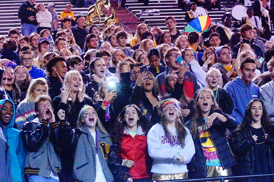 The seniors gather in close for one last central hoorah for their final football season at central. (photo by Nico Heye)