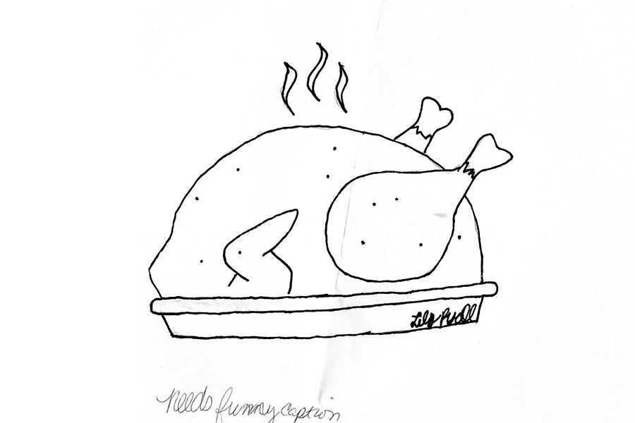 Turkey is dry anyways. (art by Lily Ryall)