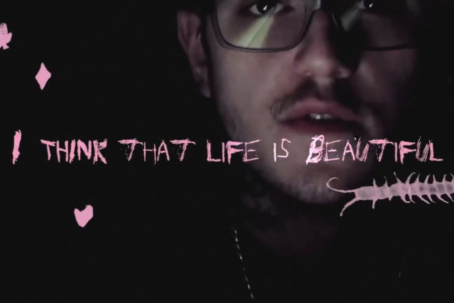 Lil Peep passed away in Tucson, AZ on Nov. 15, 2017, from an accidental overdose on Xanax laced with Fentanyl. He was 21 years old at the time of his death, and the event was heartbreaking to his millions of fans. (photo courtesy of Lil Peep's music video)