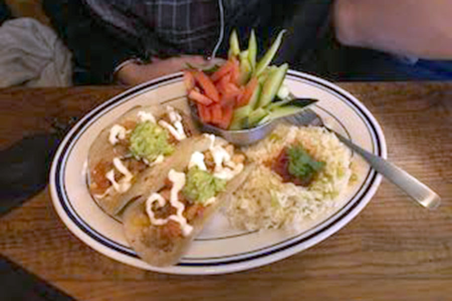 Heights Tacos and Tamales' chicken tacos have become a fan favorite to frequent customers. (photo by Parker Gunn)