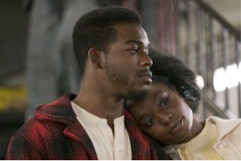"Stephan James as Fonny and Kiki Layne as Tish, the main characters of the rollercoaster love story, ""If Beale Street Could Talk."" (photo courtesy of the Washington Post)"