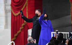 Vice President Kamala Harris is sworn in wearing a coat and dress designed by Louisiana native Christopher John Rogers.