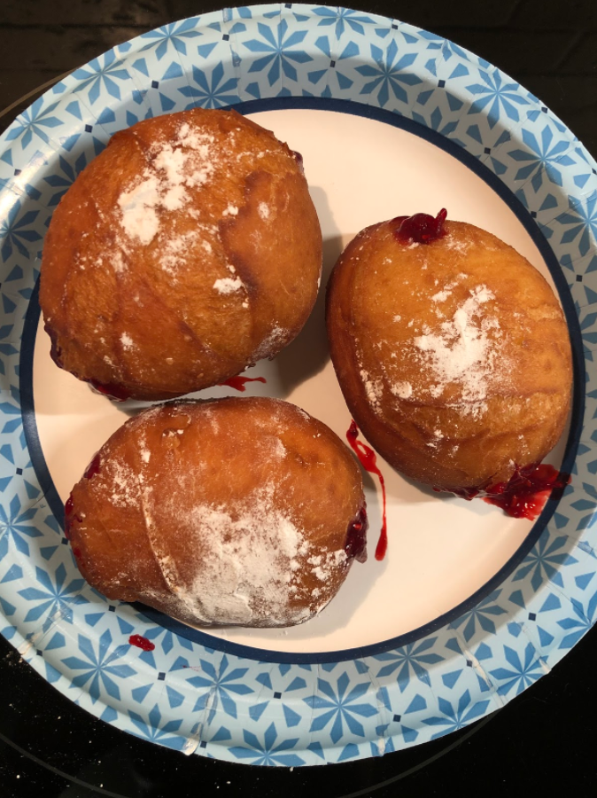 """""""I was going to make a vanilla custard, but I made a raspberry filling instead,"""" he said."""